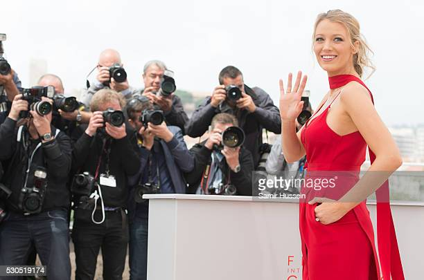 Blake Lively attends the 'Cafe Society' photocall during the 69th annual Cannes Film Festival at Palais des Festivals on May 11 2016 in Cannes France