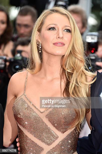 Blake Lively attends the 'Cafe Society' premiere and the Opening Night Gala during the 69th annual Cannes Film Festival at the Palais des Festivals...