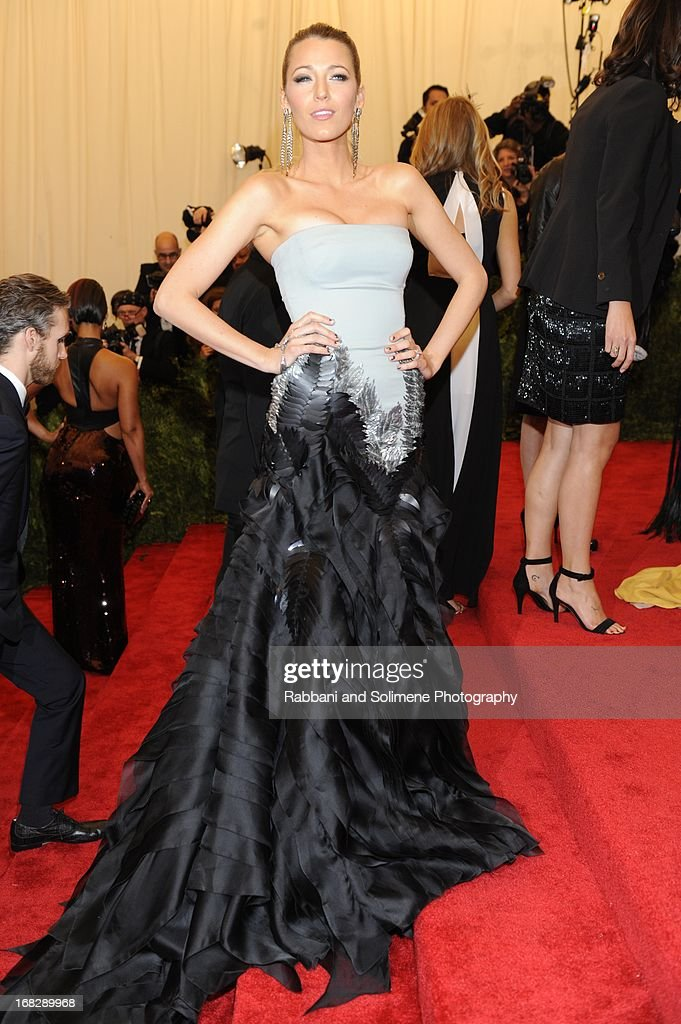 Blake Lively attends the Costume Institute Gala for the 'PUNK: Chaos to Couture' exhibition at the Metropolitan Museum of Art on May 6, 2013 in New York City.