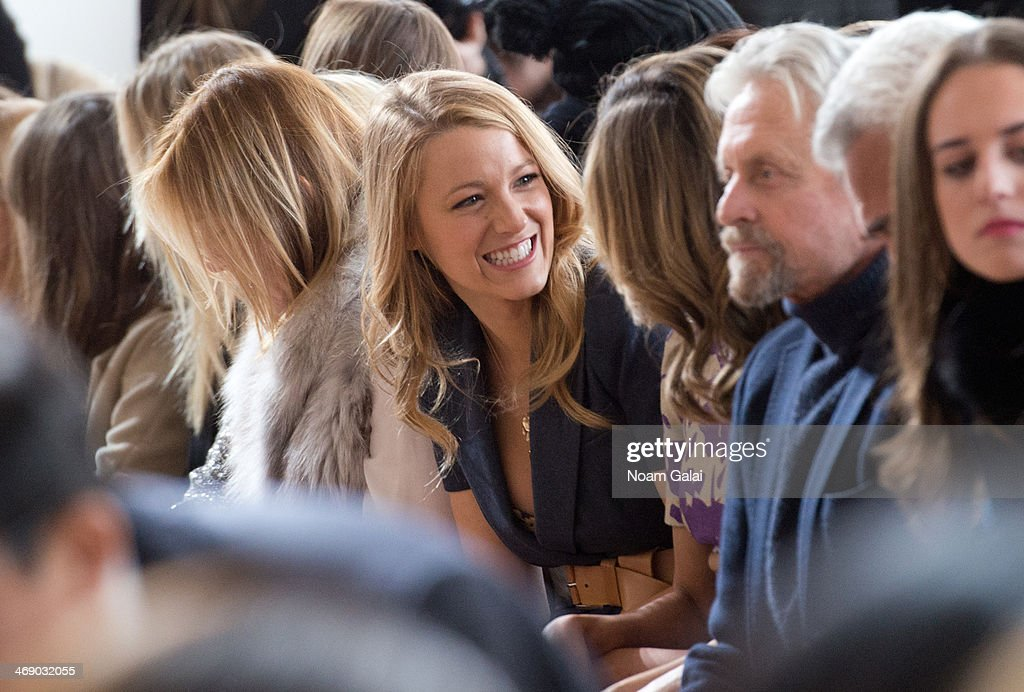 <a gi-track='captionPersonalityLinkClicked' href=/galleries/search?phrase=Blake+Lively&family=editorial&specificpeople=221673 ng-click='$event.stopPropagation()'>Blake Lively</a> attends the Michael Kors Show during Mercedes-Benz Fashion Week Fall 2014 at Spring Studios on February 12, 2014 in New York City.