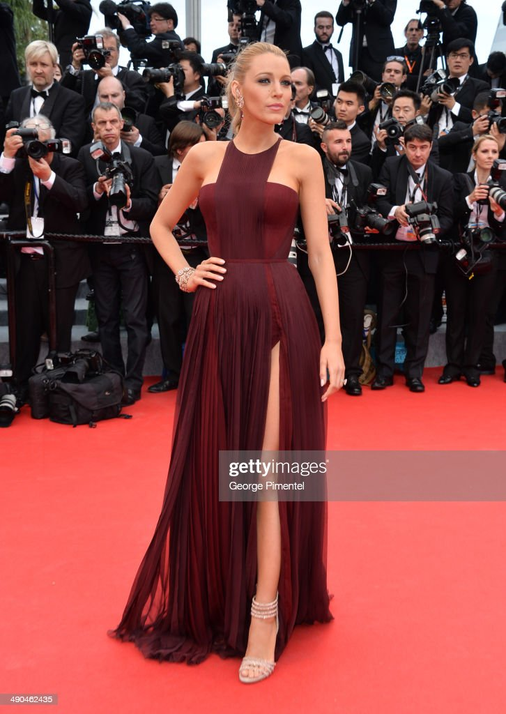 <a gi-track='captionPersonalityLinkClicked' href=/galleries/search?phrase=Blake+Lively&family=editorial&specificpeople=221673 ng-click='$event.stopPropagation()'>Blake Lively</a> attends the opening ceremony and 'Grace of Monaco' premiere at the 67th Annual Cannes Film Festival on May 14, 2014 in Cannes, France.