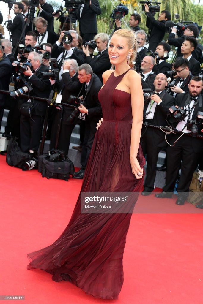 <a gi-track='captionPersonalityLinkClicked' href=/galleries/search?phrase=Blake+Lively&family=editorial&specificpeople=221673 ng-click='$event.stopPropagation()'>Blake Lively</a> attends the Opening ceremony and Premiere of 'Grace of Monaco' at the 67th Annual Cannes Film Festival on May 14, 2014 in Cannes, France.