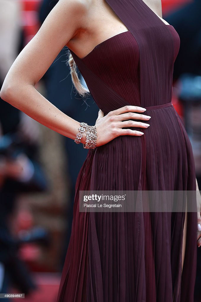 Blake Lively (jewelry detail) attends the Opening ceremony and the 'Grace of Monaco' Premiere during the 67th Annual Cannes Film Festival on May 14, 2014 in Cannes, France.