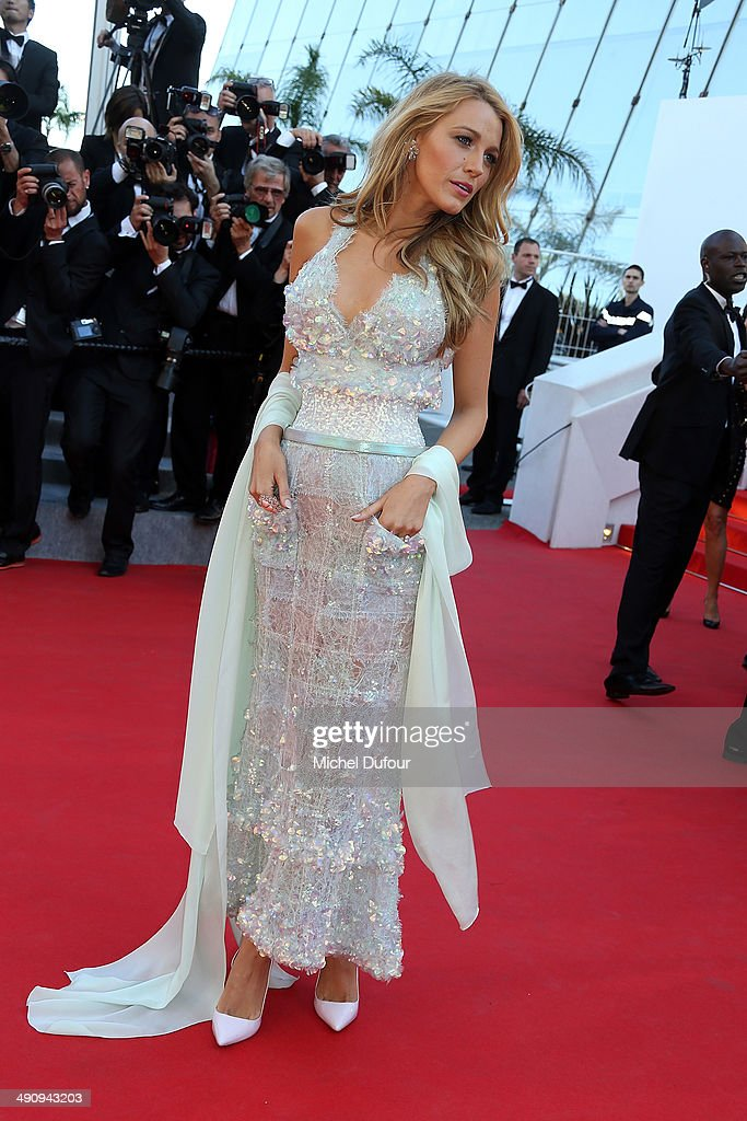 <a gi-track='captionPersonalityLinkClicked' href=/galleries/search?phrase=Blake+Lively&family=editorial&specificpeople=221673 ng-click='$event.stopPropagation()'>Blake Lively</a> attends the Premiere of 'Mr. Turner' at the 67th Annual Cannes Film Festival on May 15, 2014 in Cannes, France.