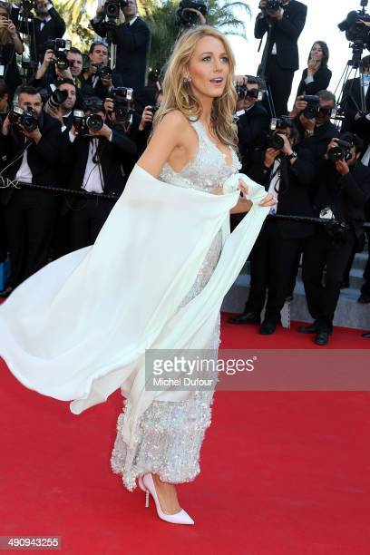 Blake Lively attends the Premiere of 'Mr Turner' at the 67th Annual Cannes Film Festival on May 15 2014 in Cannes France