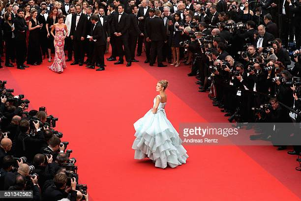 Blake Lively attends the 'Slack Bay ' premiere during the 69th annual Cannes Film Festival at the Palais des Festivals on May 13 2016 in Cannes France