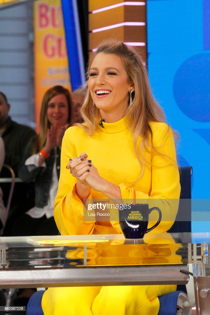 AMERICA - Blake Lively is a guest on 'Good Morning America,' Monday, October 16, 2017, airing on the ABC Television Network. BLAKE