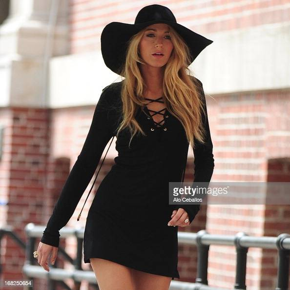 Blake Lively is seen doing a photo shoot in the West Village on May 7 2013 in New York City