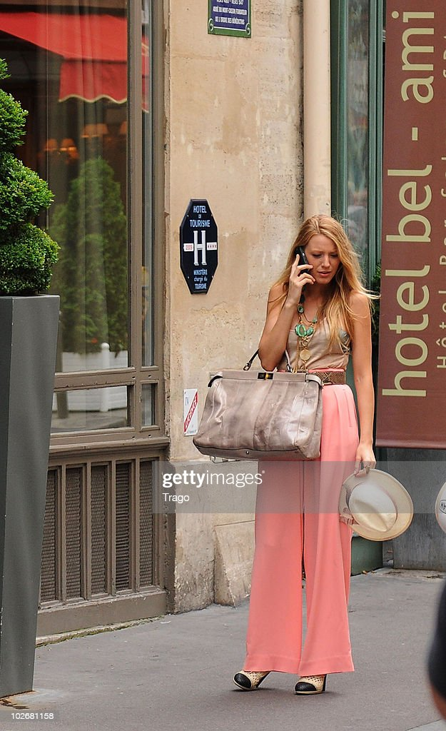 <a gi-track='captionPersonalityLinkClicked' href=/galleries/search?phrase=Blake+Lively&family=editorial&specificpeople=221673 ng-click='$event.stopPropagation()'>Blake Lively</a> is sighted on location for 'Gossip Girl' on July 5, 2010 in Paris, France.