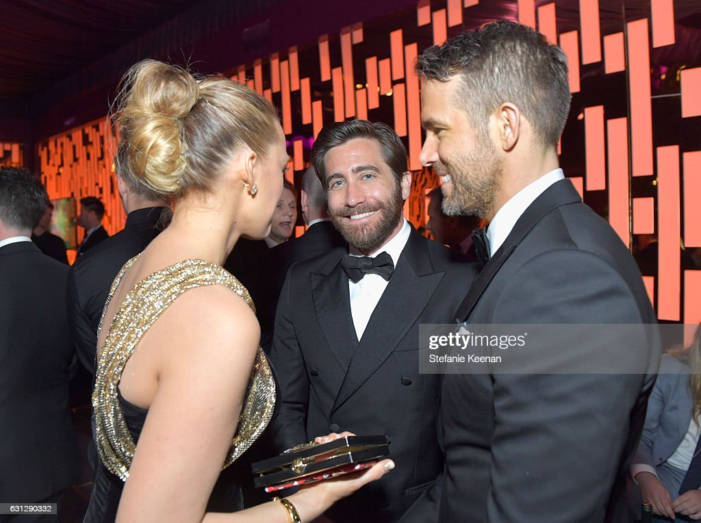 Blake Lively, Jake Gyllenhaal, and Ryan Reynolds attend The 2017 InStyle and Warner Bros. 73rd Annual Golden Globe Awards Post-Party at The Beverly Hilton Hotel on January 8, 2017 in Beverly Hills, California.