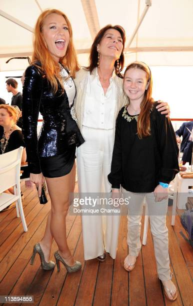 Blake Lively Princess Caroline of Hanover and Princess Alexandra of Hanover during the Chanel Collection Croisiere Show 201112 at the Hotel du Cap on...
