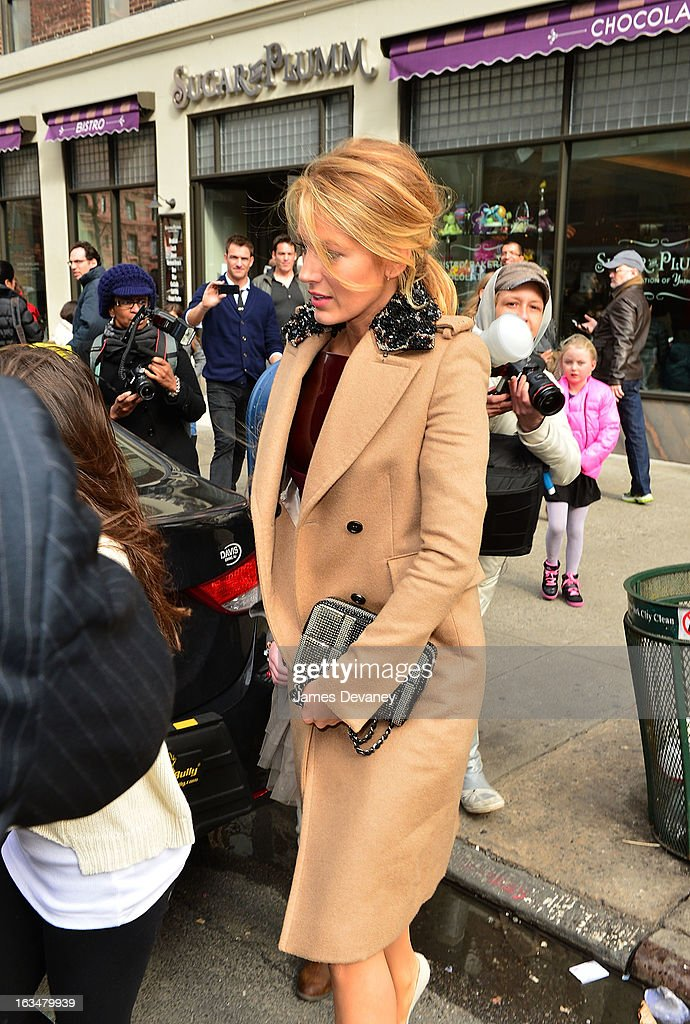 Blake Lively seen leaving Sugar And Plumm on March 10, 2013 in New York City.