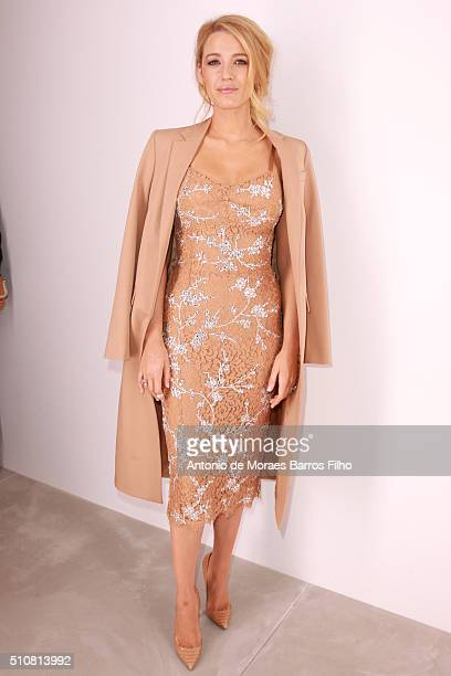 Blake Lively walks the runway during the Michael Kors show as a part of Fall 2016 New York Fashion Week at Spring Studios on February 17 2016 in New...