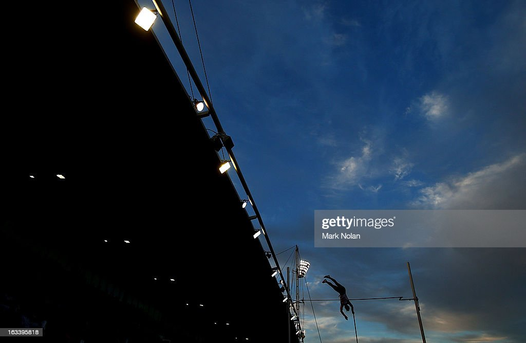 Blake Lucas of Victoria competes in the Mens Pole Vault during the Sydney Track Classic at Sydney Olympic Park Sports Centre on March 9, 2013 in Sydney, Australia.