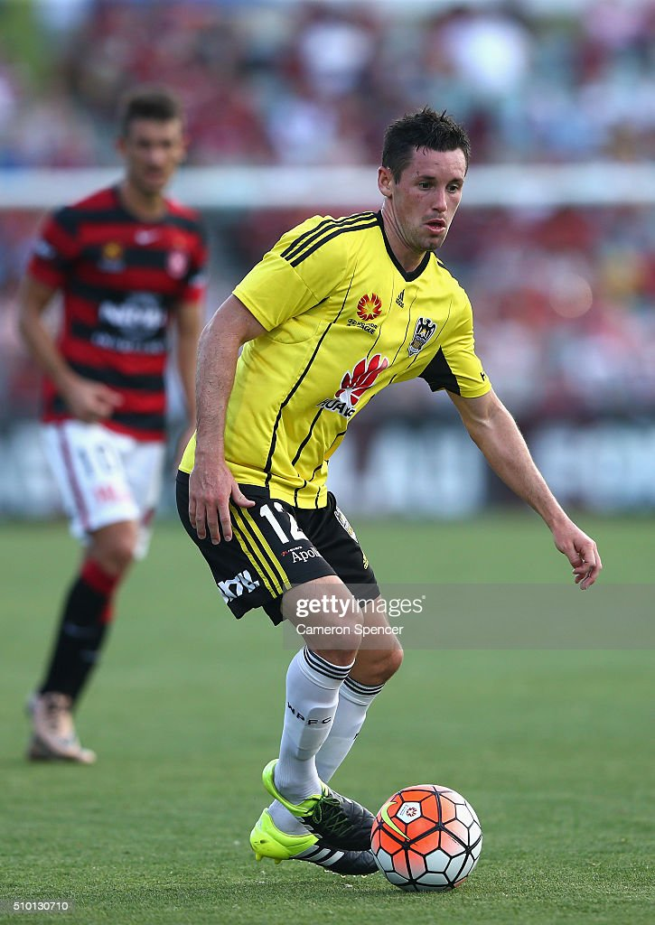 Blake Powell of the Phoenix controls the ball during the round 19 A-League match between the Western Sydney Wanderers and the Wellington Phoenix at Pirtek Stadium on February 14, 2016 in Sydney, Australia.