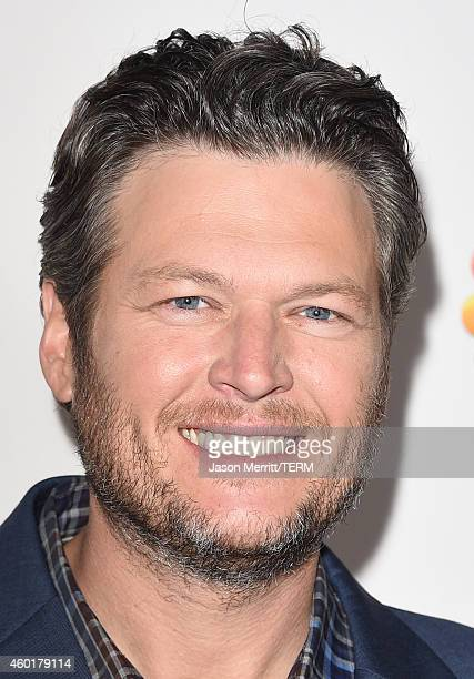 Blake Shelton attends NBC's 'The Voice' Season 7 Red Carpet Event at HYDE Sunset Kitchen Cocktails on December 8 2014 in West Hollywood California