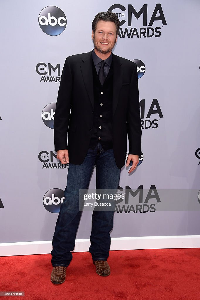 <a gi-track='captionPersonalityLinkClicked' href=/galleries/search?phrase=Blake+Shelton&family=editorial&specificpeople=2352026 ng-click='$event.stopPropagation()'>Blake Shelton</a> attends the 48th annual CMA Awards at the Bridgestone Arena on November 5, 2014 in Nashville, Tennessee.