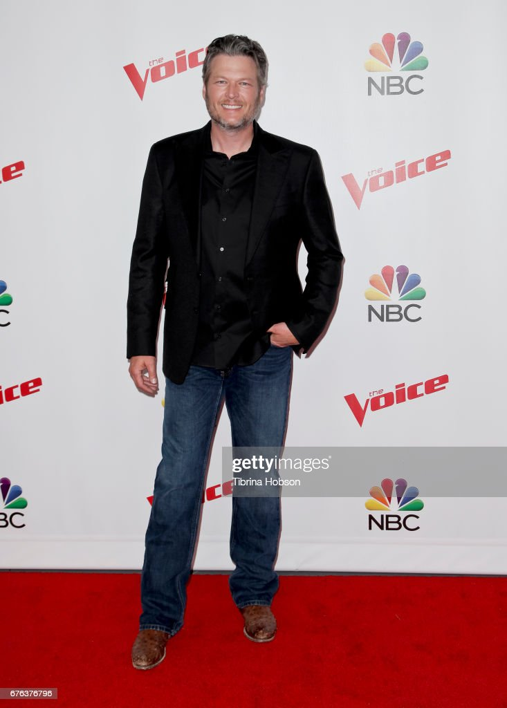 Blake Shelton attends 'The Voice' Season 12 coaches red carpet at Universal Studios Hollywood on May 1, 2017 in Universal City, California.