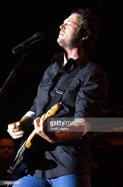 Blake Shelton performs during the 2009 BamaJam Music and Arts Festival on June 4 2009 in Enterprise Alabama