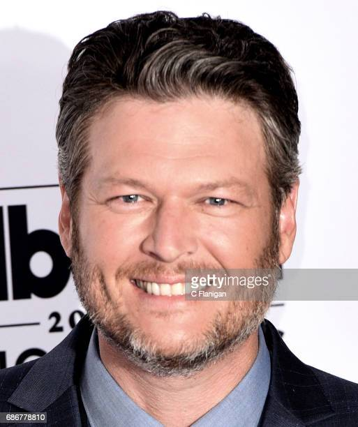Blake Shelton poses backstage in the press room during the 2017 Billboard Music Awards at TMobile Arena on May 21 2017 in Las Vegas Nevada