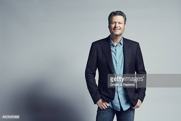 Blake Shelton poses for a portrait at the 2017 People's Choice Awards at the Microsoft Theater on January 18 2017 in Los Angeles California