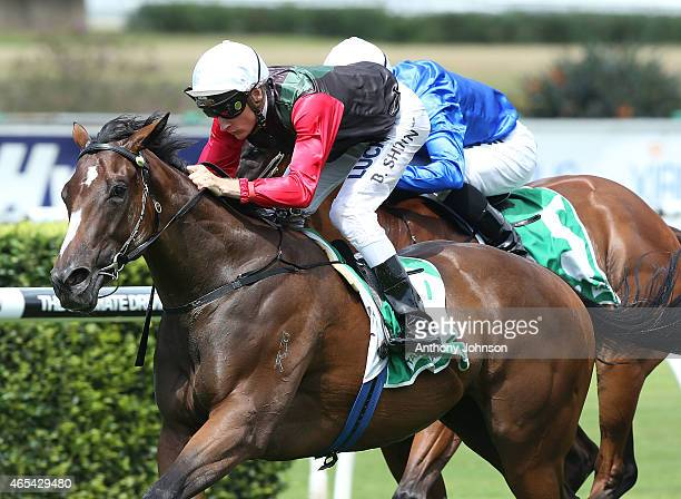 Blake Shinn rides English to win race 1 The Guinness Reisling Stakes during Sydney Racing at Royal Randwick Racecourse on March 7 2015 in Sydney...