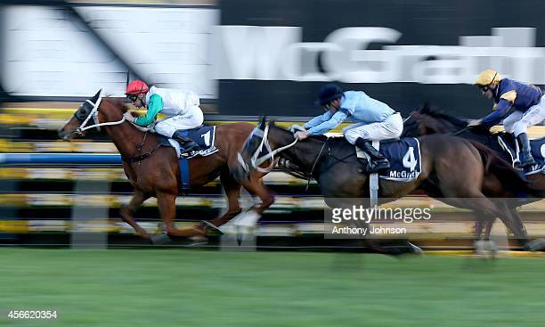 Blake Shinn rides Junoob to win the Metropolitan during Sydney Racing at Royal Randwick Racecourse on October 4 2014 in Sydney Australia