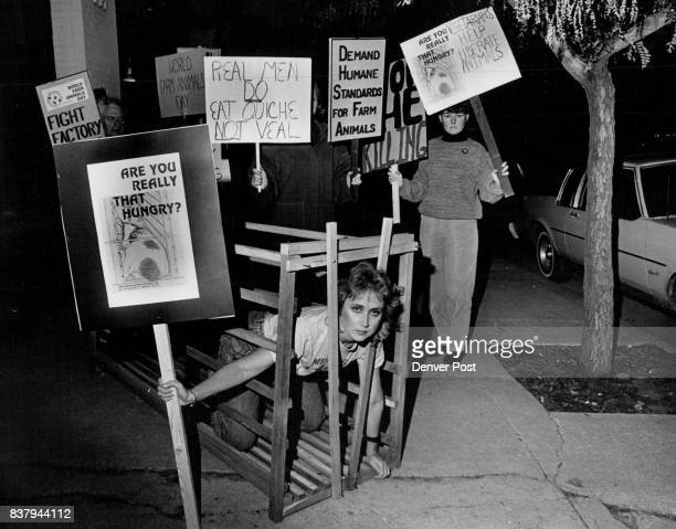 Blake St Berardi's restaurant was picketed by members of the farm animal reform movement and people for the ethical treatment of animals here we have...
