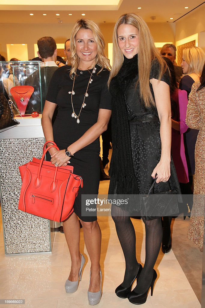 Blake Stephenson and guest attend the Grand Opening of the Omega Boutique at NorthPark on January 15, 2013 in Dallas, Texas.