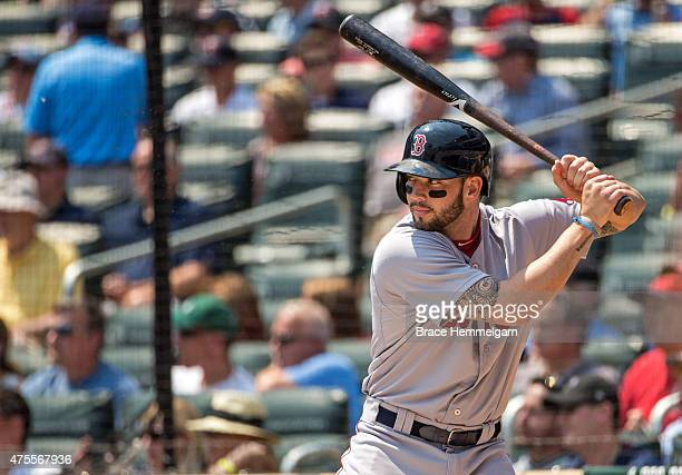 Blake Swihart of the Boston Red Sox bats against the Minnesota Twins on May 27 2015 at Target Field in Minneapolis Minnesota The Twins defeated the...