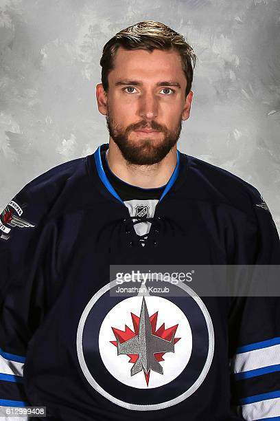 Blake Wheeler of the Winnipeg Jets poses for his official headshot for the 20162017 season on September 22 2016 at the MTS Centre in Winnipeg...
