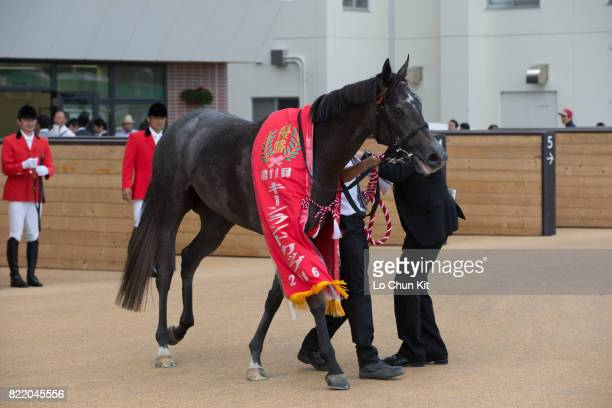 Blanc Bonheur wins the Race 11 Keeneland Cup at the Sapporo Racecourse on August 28 2016 in Sapporo Hokkaido Japan