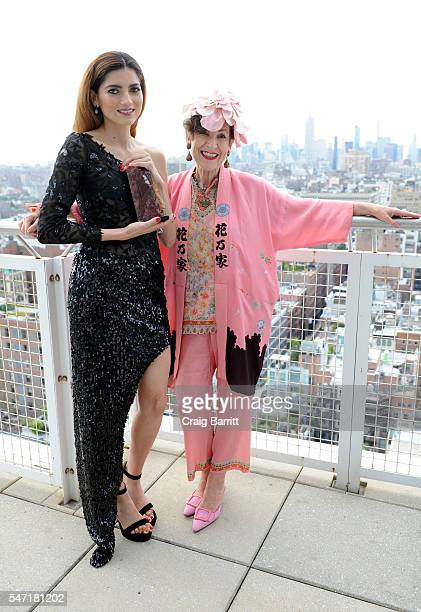 Blanca Blanco and Tziporah Salamon attend the Arido Gem Award ceremony honoring Blanca Blanco for her contribution in the film industry on July 13...