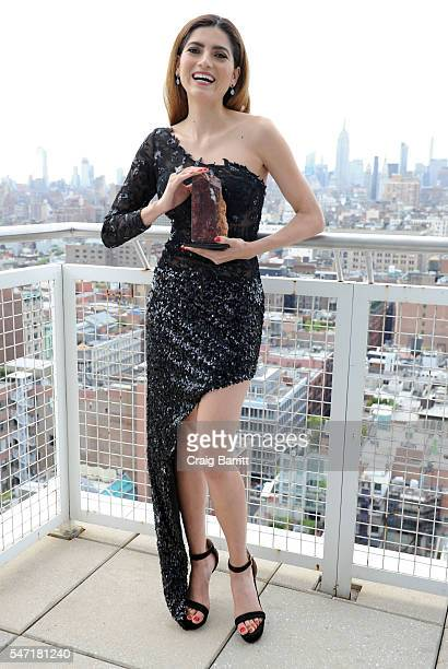 Blanca Blanco attends the Arido Gem Award ceremony honoring Blanca Blanco for her contribution in the film industry on July 13 2016 in New York City