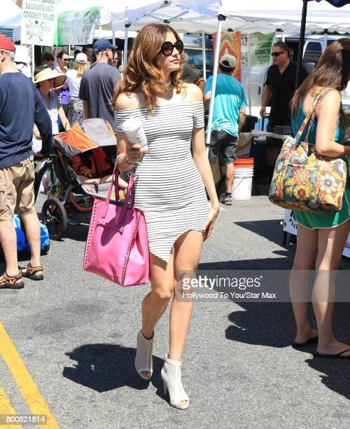 Blanca Blanco is seen at a farmer's market on June 25 2017 in Los Angeles California