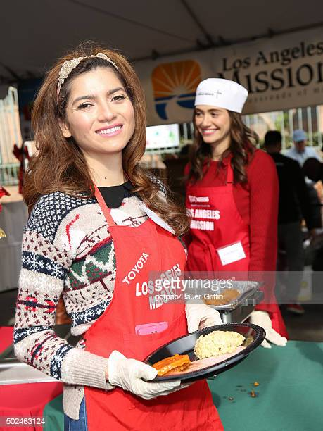 Blanca Blanco is seen at the annual Los Angeles Mission Christmas Dinner on December 24 2015 in Los Angeles California
