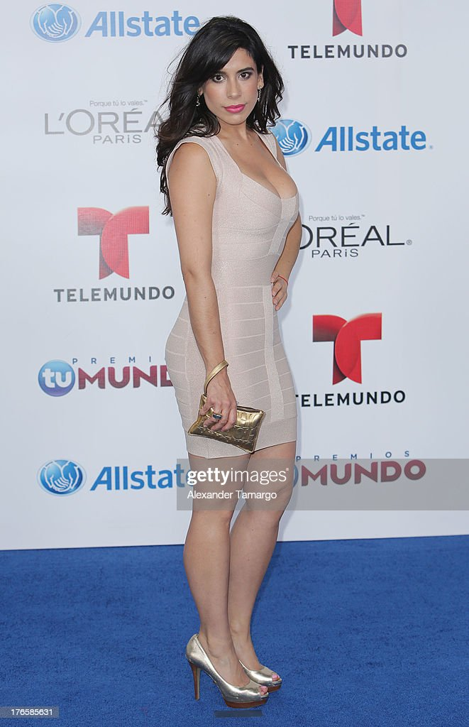 Blanca Calderon attends Telemundo's Premios Tu Mundo Awards at American Airlines Arena on August 15, 2013 in Miami, Florida.