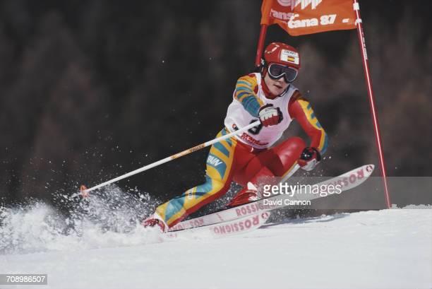 Blanca Fernandez Ochoa of Spain skiing during the International Ski Federation Women's Giant Slalom at the FIS Alpine World Ski Championship on 5...