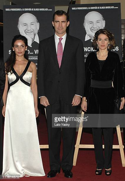 Blanca Marisllach and TRH Prince Felipe and Princess Letizia attend the opening night of the new 'FigaroAdolfo Marsillach' Theatre on January 17 2008...