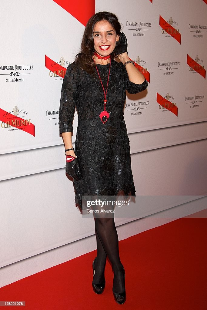Blanca Marsillach attends the Maison Mumm inauguration at the Santo Mauro Hotel on December 11, 2012 in Madrid, Spain.