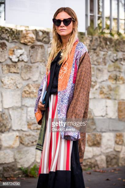Blanca Miro Scrimieri is seen before the Loewe show during Paris Fashion Week Womenswear SS18 on September 29 2017 in Paris France
