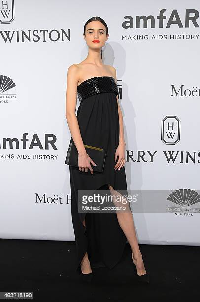 Blanca Padilla attends the 2015 amfAR New York Gala at Cipriani Wall Street on February 11 2015 in New York City