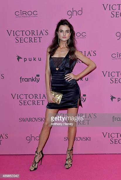 Blanca Padilla attends the pink carpet of the 2014 Victoria's Secret Fashion Show on December 2 2014 in London England