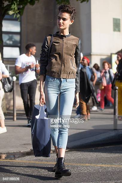 Blanca Padilla model at the Armani Prive show at Palais de Chaillot on July 5 2016 in Paris France