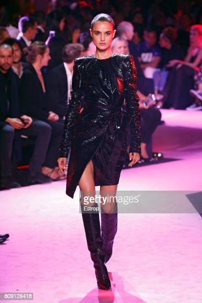 Blanca Padilla walks the runway during the Alexander Vauthier Haute Couture Fall/Winter 20172018 show as part of Haute Couture Paris Fashion Week on...