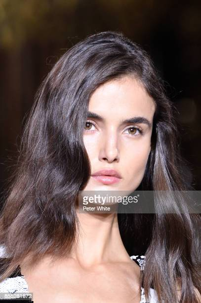 Blanca Padilla walks the runway during the Balmain show as part of the Paris Fashion Week Womenswear Spring/Summer 2018 on September 28 2017 in Paris...