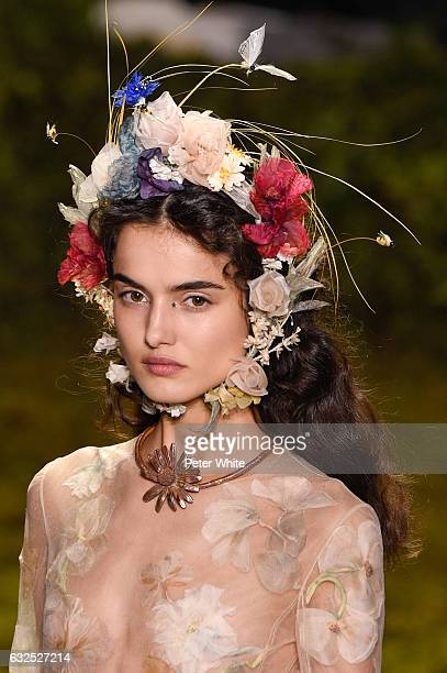 Blanca Padilla walks the runway during the Christian Dior Spring Summer 2017 show as part of Paris Fashion Week on January 23 2017 in Paris France