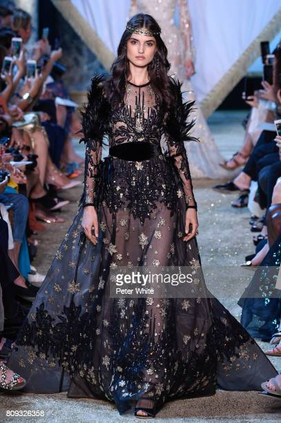 Blanca Padilla walks the runway during the Elie Saab Haute Couture Fall/Winter 20172018 show as part of Haute Couture Paris Fashion Week on July 5...