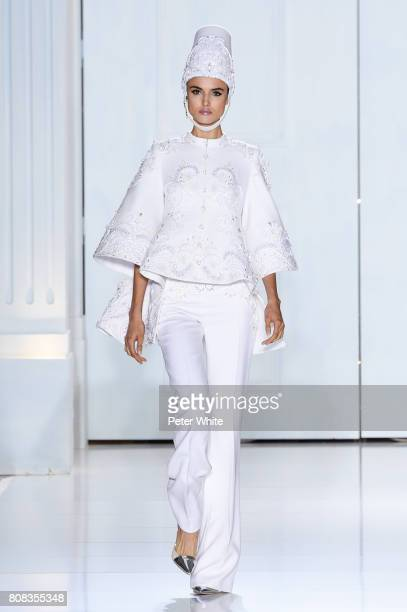 Blanca Padilla walks the runway during the Ralph Russo Haute Couture Fall/Winter 20172018 show as part of Haute Couture Paris Fashion Week on July 3...