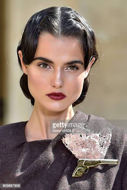 Blanca Padilla walks the runway during the Ulyana Sergeenko Haute Couture Fall/Winter 20172018 show as part of Haute Couture Paris Fashion Week on...